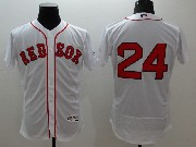 mens majestic boston red sox #24 david price white Flex Base jersey