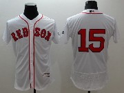 mens majestic boston red sox #15 dustin pedroia white Flex Base jersey