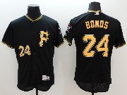 Mens Majestic Pittsburgh Pirates #24 Barry Bonds P Black Flex Base Jersey