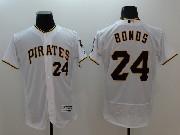 mens majestic pittsburgh pirates #24 barry bonds white Flex Base jersey
