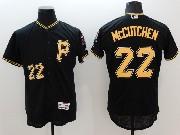 mens majestic pittsburgh pirates #22 andrew mccutchen black Flex Base jersey(p)