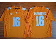 Mens Ncaa Nfl 2015 Tennessee Volunteers #16 Peyton Manning Orange Football Jersey