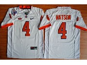 Youth Ncaa Nfl Clemson Tigers #4 Deshaun Watson White College Football Jersey