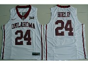 Mens Ncaa Nba Oklahoma Sooners Custom Made White College Basketball Jersey
