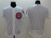 mens majestic chicago cubs blank white stripe Flex Base authentic collection jersey