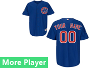 Mens Majestic Chicago Cubs Blue Cool Base Jersey