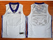 Mens Ncaa Nba Lsu Tigers Blank White Basketball Elite Jersey