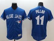 mens majestic toronto blue jays #11 kevin pillar blue Flex Base jersey