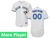 Mens Majestic Toronto Blue Jays White Flex Base Current Player Jersey