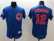 mens majestic chicago cubs #12 kyle schwarber blue Flex Base jersey