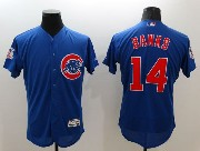 mens majestic chicago cubs #14 banks blue Flex Base jersey