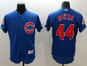 mens majestic chicago cubs #44 anthony rizzo blue Flex Base jersey