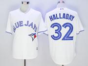 Mens Mlb Toronto Blue Jays #32 Roy Halladay White Jersey