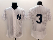 mens majestic new york yankees #3 ruth white stripe Flex Base jersey