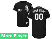 Mens Majestic Chicago White Sox Black Flex Base Current Player Jersey