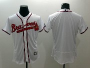 mens majestic atlanta braves blank white Flex Base jersey