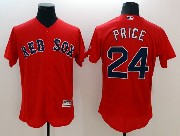 mens majestic boston red sox #24 david price red Flex Base jersey