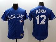 mens majestic toronto blue jays #12 roberto alomar blue Flex Base jersey