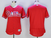 mens majestic philadelphia phillies blank red Flex Base jersey