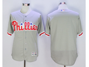 mens majestic philadelphia phillies blank gray Flex Base jersey