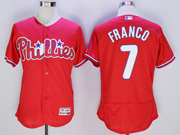 mens majestic philadelphia phillies #7 maikel franco red Flex Base jersey