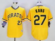 mens majestic pittsburgh pirates #27 jung-ho kang gold Flex Base jersey