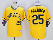 mens majestic pittsburgh pirates #25 gregory polanco gold Flex Base jersey