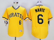 mens majestic pittsburgh pirates #6 starling marte gold Flex Base jersey