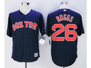 Mens Mlb Boston Red Sox #26 Wade Boggs Navy Blue Cool Base Jersey