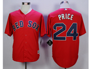 Mens Mlb Boston Red Sox #24 David Price Red Cool Base Jersey