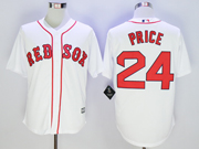 Mens Mlb Boston Red Sox #24 David Price White Cool Base Jersey