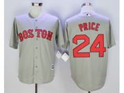 Mens Mlb Boston Red Sox #24 David Price Gray Cool Base Jersey