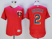 mens mlb minnesota twins #2 brian dozier red Flex Base jersey