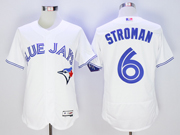 mens majestic toronto blue jays #6 marcus stroman white Flex Base jersey
