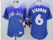 mens majestic toronto blue jays #6 marcus stroman blue Flex Base jersey