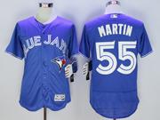 mens majestic toronto blue jays #55 russell martin blue Flex Base jersey