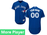 Mens Majestic Toronto Blue Jays Blue Flex Base Current Player Jersey