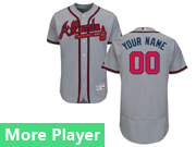 Mens Majestic Atlanta Braves Gray Flex Base Current Player Jersey