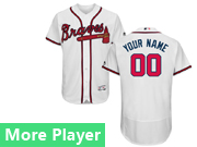Mens Majestic Atlanta Braves White Flex Base Current Player Jersey