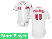 Mens Majestic Cincinnati Reds White Flex Base Current Player Jersey