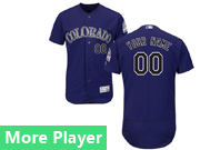 Mens Majestic Colorado Rockies Purple Flex Base Current Player Jersey