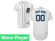 Mens Majestic Detroit Tigers White Flex Base Current Player Jersey