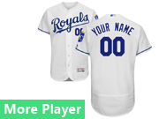 Mens Majestic Kansas City Royals White Flex Base Current Player Jersey