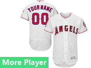 Mens Majestic Los Angeles Angels White Flex Base Current Player Jersey