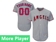 Mens Majestic Los Angeles Angels Gray Flex Base Current Player Jersey