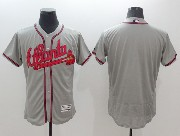 mens majestic atlanta braves blank gray Flex Base jersey
