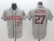 mens majestic houston astros #27 jose altuve gray Flex Base jersey