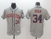 mens majestic houston astros #34 nolan ryan gray Flex Base jersey