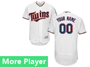 Mens Majestic Minnesota Twins White Flex Base Current Player Jersey