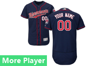 Mens Majestic Minnesota Twins Navy Blue Flex Base Current Player Jersey